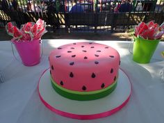 what's not to love about this super adorable watermelon birthday party theme! Watermelon Birthday Parties, Summer Birthday, Girl First Birthday, 21st Birthday Cakes, Birthday Ideas, 21st Cake, Birthday Party Themes, One In A Melon, Girl Cakes