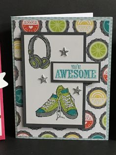 Stampin' Up! Epic Celebrations, Sale-bration 2018. I think this card would be great for teens and Young adults!