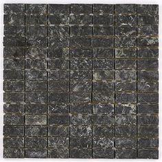 Malla de piedra: 28x28 cm; Green Black c/ Cromo #bathroom #rock