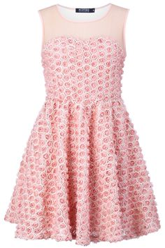 Pink Rose Blooming Dress. Description Pink dress, featuring gauze on the shoulder and the back, blooming roses covering all the dress, no sleeves,folds on the waist, zip concealed on the side, in knit-lined finish. Fabric Dacron. Washing 40 degree machine wash , low iron. #Romwe