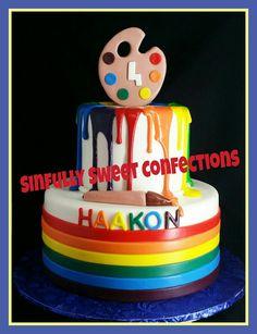 Painters Birthday Cake