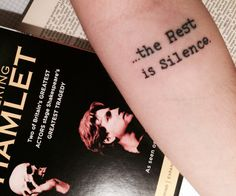 Inspired from the play Hamlet, written by William Shakespeare #literarytattoos