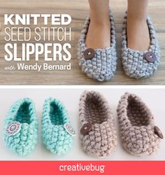 Stay warm this fall and whip up a pair of cozy slippers. These slippers come together quickly and are great for beginners.