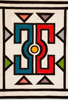 Collection Ndebele – Printemps/Été 2016 – Un design unique réalisé à Paris et une fabrication artisanale en Afrique du Sud. African Tribes, African Art, Africa Symbol, South African Design, African House, Art Therapy Projects, Tribal Patterns, Aboriginal Art, Mural Art