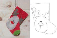 Moldes para hacer bonitas botas navideñas Christmas Stockings, Holiday Decor, Xmas, Ornaments, Needlepoint Christmas Stockings, Christmas Leggings, Stockings