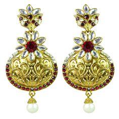 Nilofer Matka Engraved Gold Earring : Via Mazzini