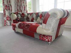 Chesterfield Sofa im Patchwork-Stil.  www.kippax-sofas.de
