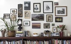 Gallery wall and shelves