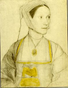 Drawing of Cecily Heron, daughter of Sir Thomas More