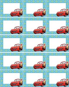 Printable Name Tags, Printable Labels, Car Themed Parties, Cars Birthday Parties, Diy Craft Projects, Crafts For Kids, Notebook Labels, Cars Invitation, How To Make Planner