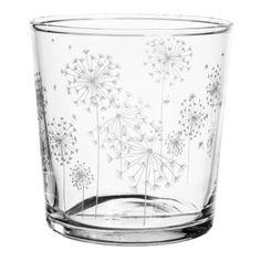 Gobelet en verre gravé pissenlits Bodega (par 6) Côté table