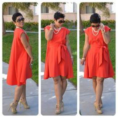 OOTD: #DIY Red High-Low Belted Dress |Fashion, Lifestyle, and DIY
