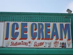 ice cream - coney island - signage
