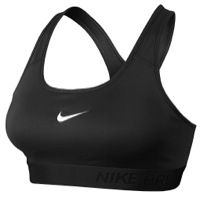 Want more coverage in a sport bra? This is it!  Nike Pro Padded Bra - Women's - Black / White