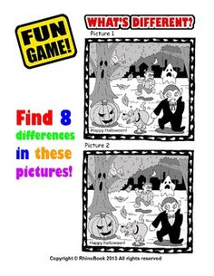 Free - Fun Game: What's Different? (Halloween Game)