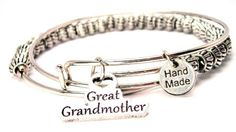 Great Grandmother Beaded Expandable Wire Bangle >>> You can find more details by visiting the image link.