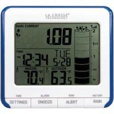 Wireless Rain Gauge Center La Crosse Technology 724-1710 Programmable Sensor New…