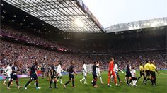 Team GB and Senegal walk out at Old Trafford