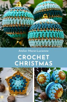 Crochet Christmas Baubles and Crochet Christmas Ornaments in different shapes an. Crochet Christmas Baubles and Crochet Christmas Ornaments in different shapes and colours to be found in my Etsy-Shop. Knitted Christmas Stocking Patterns, Knitted Christmas Decorations, Knit Christmas Ornaments, Christmas Tree Skirts Patterns, Knitted Christmas Stockings, Crochet Ornaments, Xmas, Holiday Crochet, Unique Gifts
