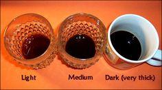 Coffee strength