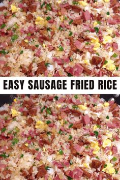 Ingredients: 1 1/2 cups long grain white rice 4 eggs beaten 1 onion diced 1 carrot diced #rice #fried #recipe Rice On The Stove, Garlic Cloves Minced, Chicken Sausage, White Rice, Omelet, Wooden Spoons, Rice Dishes, Fried Rice, Hot Dogs