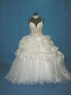 see through wedding dress