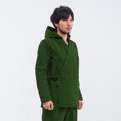 フード作務衣 上衣のみ - bon. - 作務衣・甚平やオリジナルポンチョなど、本物の和ファッション・小物の販売