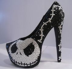 Nightmare Before Christmas - Jack Skellington - Sparkling Platform Heels