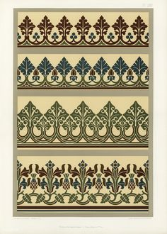 Free Public Domain | Medieval pattern from The Practical Decorator and Ornamentist (1892) by G.A Audsley and M.A. Audsley. Digitally enhanced from our own original first edition of the publication.