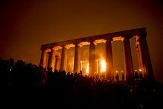 Calton Hill, Edinburgh during the Beltane Fire Festival
