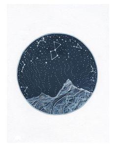 Fine Art PrintLyra Constellation by elisemahanfineart on Etsy, $10.00
