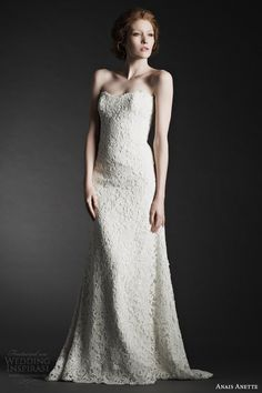 More lovely looks from Anais Anette Fall 2014 bridal collection. Above and below, Lisette lace gown. Wedding Dresses 2014, Wedding Pics, 2017 Wedding, Wedding Things, Wedding Blog, Wedding Looks, Beautiful Gowns, Bridal Collection, Bridal Style