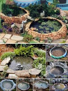 Tractor Tire Pond, I do like this and would never tell anyone not to surprise me by waking up to this in my yard.Tractor Tire Pond - Got a few of these laying around!Tractor Tyre Pond More (Diy Garden Fountain)Tractor Tyre Pond For relaxing after Farm Cam Tire Garden, Garden Art, Easy Garden, Willow Garden, Ponds Backyard, Backyard Landscaping, Garden Ponds, Backyard Ideas, Garden Water Fountains