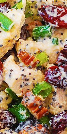 Canned Chicken Salad Recipe, Pecan Chicken Salads, Cranberry Chicken, Cranberry Recipes, Chicken Recipes, Pecan Recipes, Cooked Chicken, Thanksgiving Salad, Thanksgiving Turkey