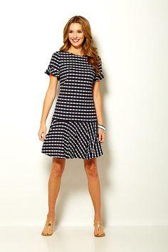a4de85e26cd Philanthropic apparel designer Sara Campbell creates timeless silhouettes  for women. Striped DressSummer ...