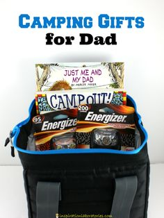 Camping Gifts for Dads - great ideas for kids to give! #DadIsMyHero #ad