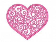Heart embroidery design Heart machine embroidery design