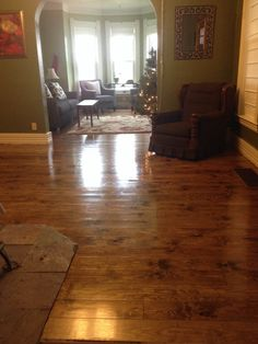 Allison in MO used our 1 x 10 # 2 or better knotty pine to create this cool look.