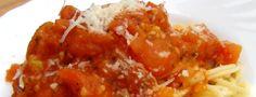 Špagety s rajčaty - spaghetii al pomodor