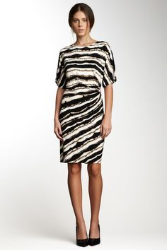 Printed Side Buckle Dress on HauteLook