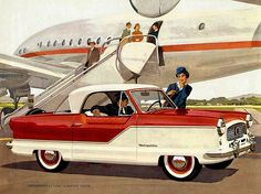 ... Nash Metropolitan. I remember these tiny cars of the 1950's and early 1960's. I think that they were produced along with 'Ramblers.' by American Motors.