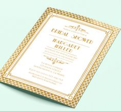 Great gatsby style art deco bridal shower invitation 1920s 20s great gatsby style art deco bridal shower invitation 1920s 20s style black and gold printable diy gatsby style gatsby and shower invitations filmwisefo