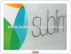Sublime laser cut Ice Sign, clear acrylic lettering with vinyl colours, mounted to frosted acrylic panel. Just superb..