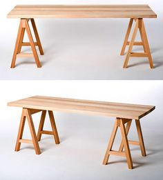 Saw Horse Table- make great sewing table