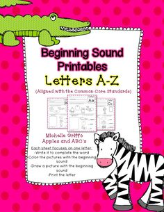 Beginning Sound Printables (from Apples and ABC's)