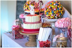 Candy Table  | Just Judy Photography Candy Table, Wedding Decorations, Birthday Cake, Desserts, Photography, Food, Tailgate Desserts, Candy Stations, Birthday Cakes