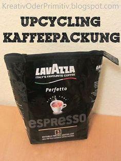 upcycling, recycling, kaffee packung, verpackung, tasche, nähen, basteln, utensilo, einfach, anleitung, anfänger, schnittmuster, kostenlos