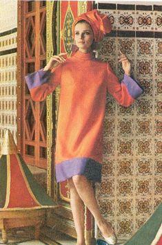 60s And 70s Fashion, Mod Fashion, Vogue Fashion, Fashion Photo, Teen Fashion, Vintage Fashion, Vintage Glam, Looks Vintage, Turban Outfit