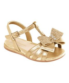 Another great find on #zulily! Gold Bow Sandal by Pampili #zulilyfinds