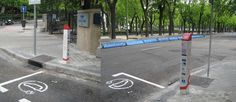 Emerix recharge station on Paseo de la Castellana in Madrid, Spain